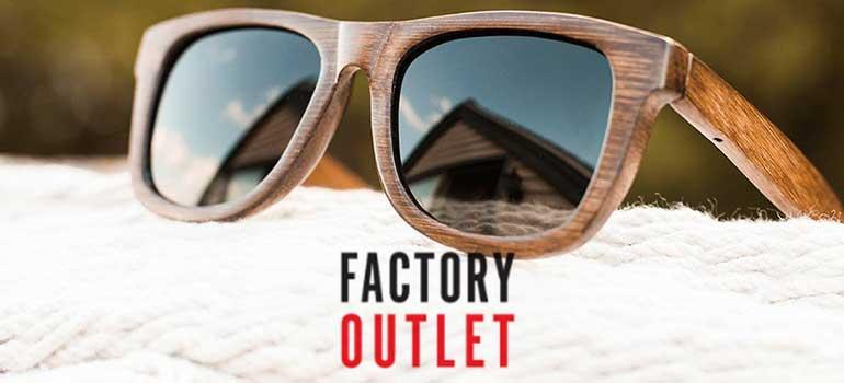Ξύλινα γυαλιά ηλίου στο Factory Outlet