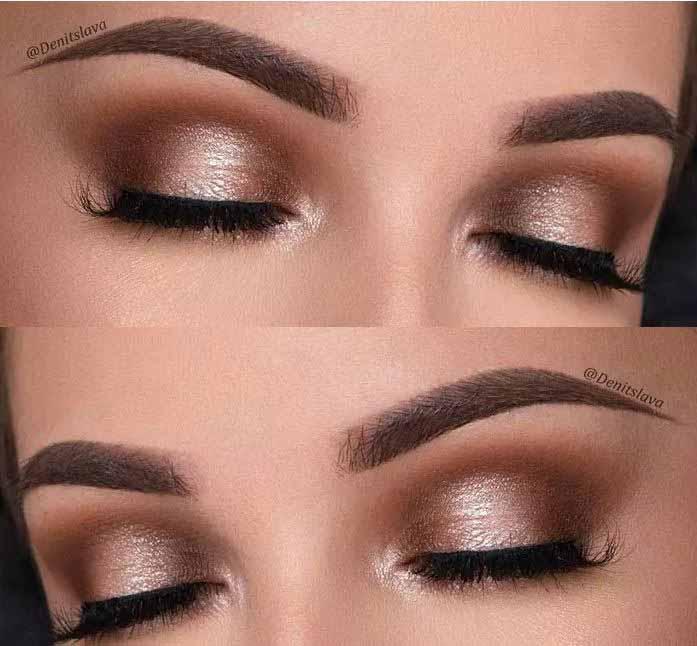Σκιές ματιών σε χάλκινο χρώμα