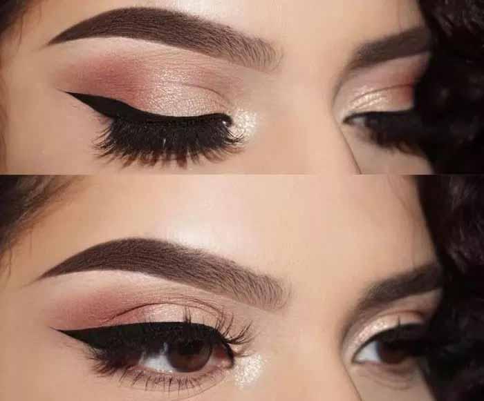 Σκιές ματιών σε απόχρωση του ροζ – χρυσού